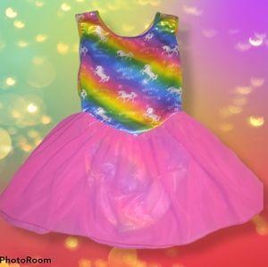 Gorgeous Sparkly 🌈 Girl's Gymnastics Outfit NWT